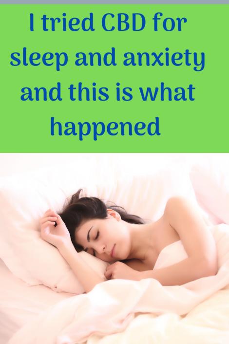 CBD for sleep and anxiety