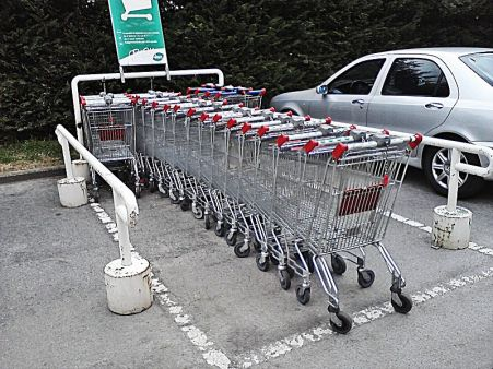 shopping carts parking for moms
